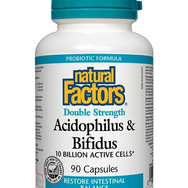 Natural Factors Natural Factors Double Strength Acidophilus Bifidus 90 caps