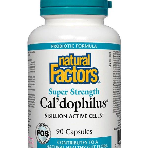 Natural Factors Natural Factors Super Strength Cal'dophilus with 200 mg FOS 90 caps