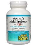 Natural Factors Natural Factors Women's Multi Probiotic with CranRich 120 vcaps