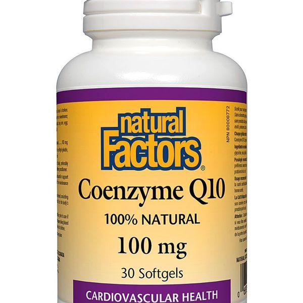 Natural Factors Natural Factors Coenzyme Q10 100mg 30 softgels