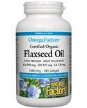 Natural Factors Natural Factors OmegaFactors Certified Organic Flaxseed Oil 1000mg 180 softgels