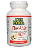 Natural Factors Natural Factors FlexAble Glucosamine Sulfate Sodium Free 500mg 180 caps