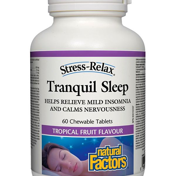 Natural Factors Natural Factors Stress-Relax Tranquil Sleep Tropical Fruit 60 chewables