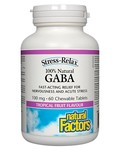 Natural Factors Natural Factors Stress-Relax 100% Natural GABA 100mg 60 chewables