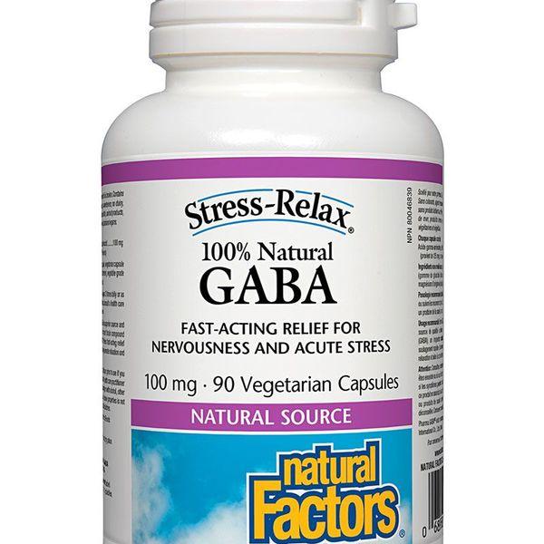 Natural Factors Natural Factors Stress-Relax 100% Natural GABA 100mg 90 caps