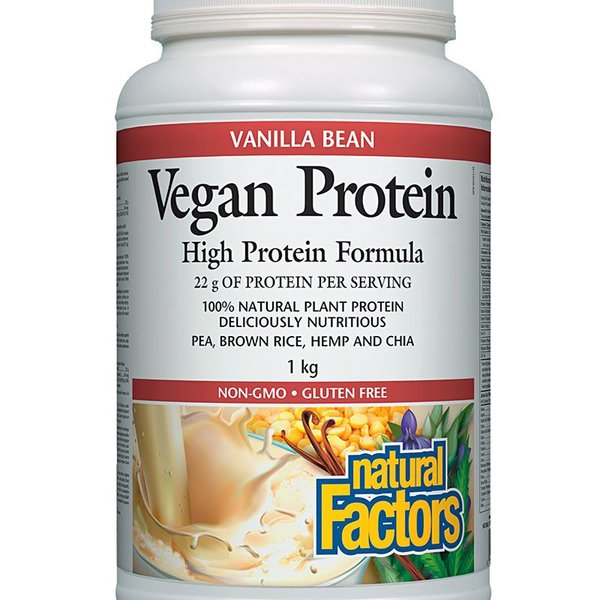 Natural Factors Natural Factors Vegan Protein Vanilla Bean 1kg