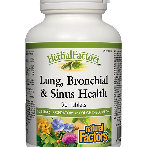 Natural Factors Natural Factors Herbal Factors Lung, Bronchial & Sinus Health 90 tabs