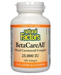 Natural Factors Natural Factors BetaCareAll 25,000 IU 180 softgels