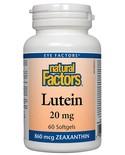 Natural Factors Natural Factors Lutein 20mg 60 softgels