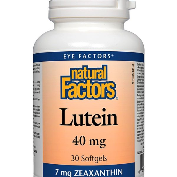 Natural Factors Natural Factors Lutein 40mg 30 softgels