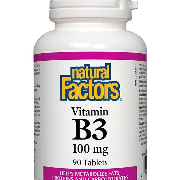 Natural Factors Natural Factors Vitamin B3 100mg 90 tabs