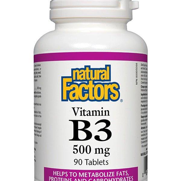 Natural Factors Natural Factors Vitamin B3 500mg 90 tabs