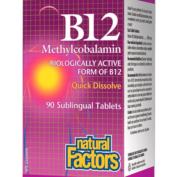 Natural Factors Natural Factors Vitamin B12 Methyl 1000 mcg 90 tabs