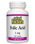 Natural Factors Natural Factors Folic Acid 1mg 180 tabs