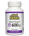 Natural Factors Natural Factors Mixed E 400 IU 90 softgels