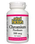 Natural Factors Natural Factors Chromium Picolinate 500mcg 90 tabs