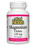 Natural Factors Natural Factors Magnesium Chelate 125mg 90 caps