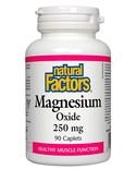 Natural Factors Natural Factors Magnesium Oxide 250 mg 90 tabs