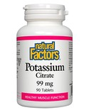 Natural Factors Natural Factors Potassium Citrate 99mg 90 tabs