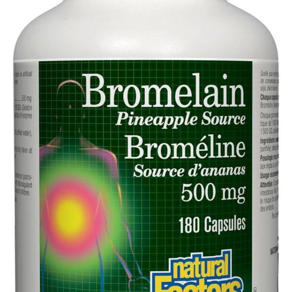 Natural Factors Natural Factors Bromelain 500 mg 180 caps