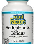 Natural Factors Natural Factors Acidophilus & Bifidus 180 caps