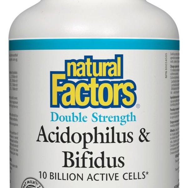 Natural Factors Natural Factors Double Strength Acidophilus Bifidus 180 caps