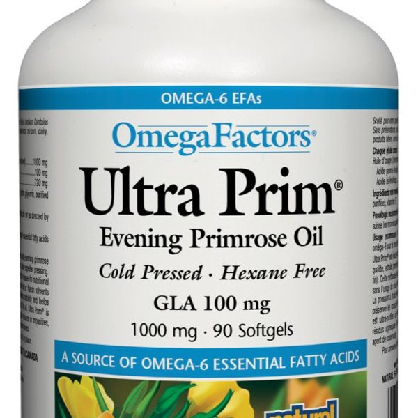 Natural Factors Natural Factors OmegaFactors Ultra Prim Evening Primrose Oil 1000mg 90 softgels