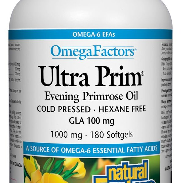 Natural Factors Natural Factors OmegaFactors Ultra Prim Evening Primrose Oil 1000mg 180 softgels