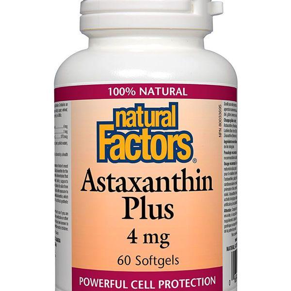 Natural Factors Natural Factors Astaxanthin Plus 4mg 60 softgels