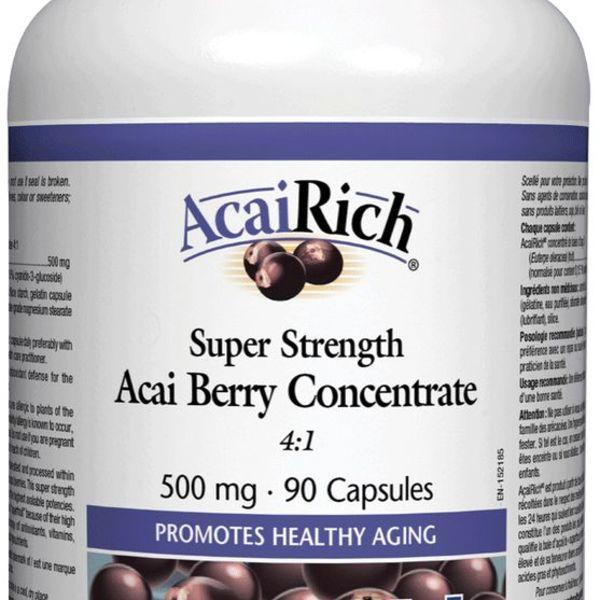Natural Factors Natural Factors AcaiRich Super Strength Acai Berry Concentrate 4:1 500 mg 90 caps