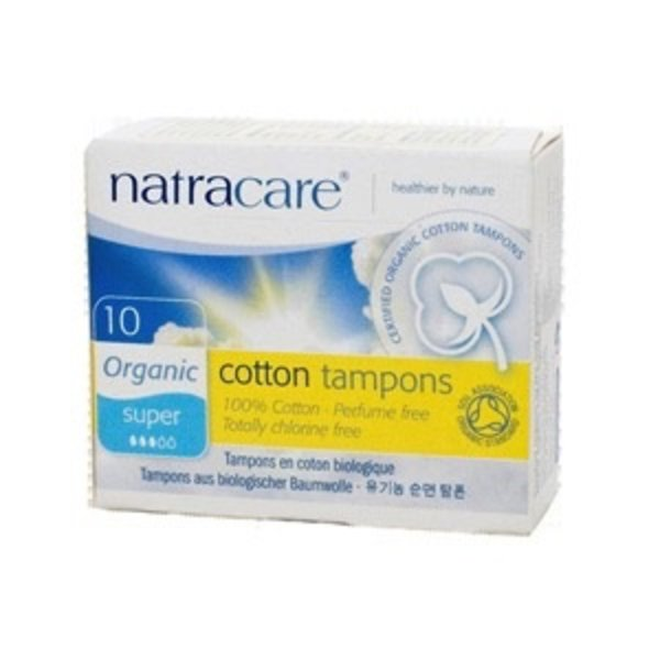 Natracare Organic Super Tampons without applicator 10 ct