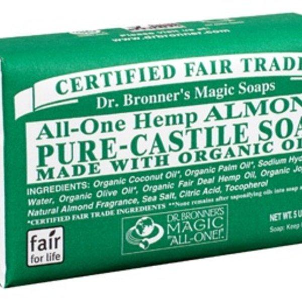Dr. Bronner's Dr Bronner's Almond Oil Castile Bar Soap 140g
