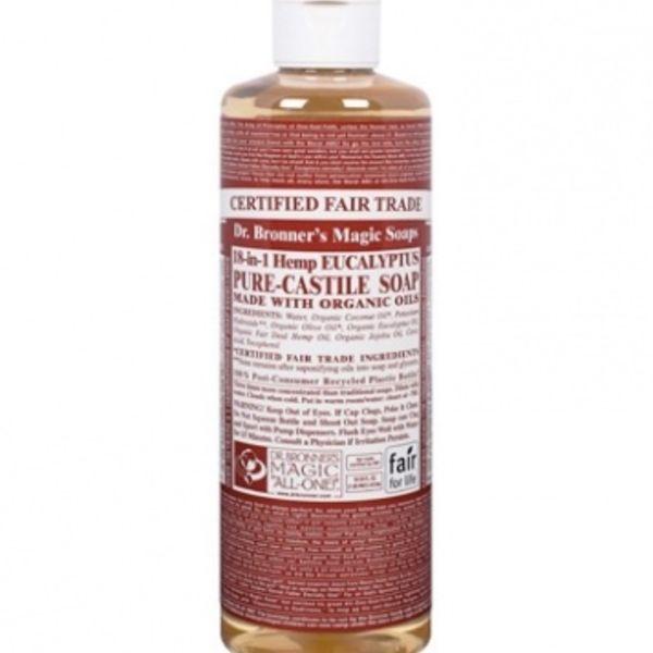 Dr. Bronner's Dr Bronner's Eucalyptus Oil Castile Soap Liquid 16oz