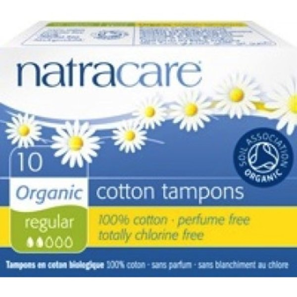 Natracare Organic Regular Tampons without applicator 10 ct