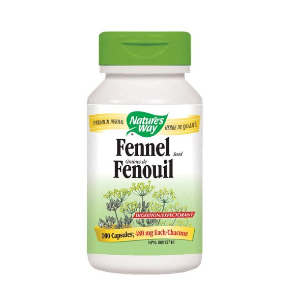 Natures Way Fennel Seed 100 cap