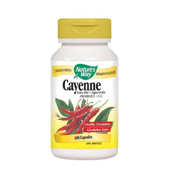 Natures Way Cayenne 100, 000 HU 100 caps