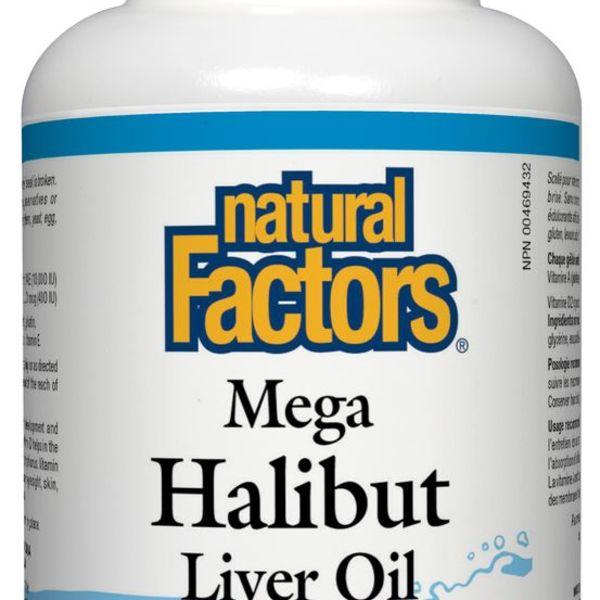 Natural Factors Natural Factors Mega Halibut Liver Oil 180 softgels