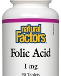 Natural Factors Natural Factors Folic Acid 1mg 90 tabs