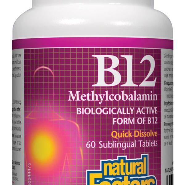 Natural Factors Natural Factors Vitamin B12 Methylcobalamin 5000mcg 60 tabs