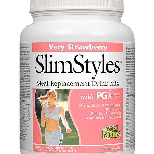 Natural Factors Natural Factors SlimStyles Very Strawberry 800g