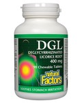 Natural Factors Natural Factors DGL Deglycyrrhizinated Licorice Root Extract 400 mg 90 chew