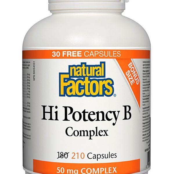Natural Factors Natural Factors BONUS Hi Potency B Complex 50mg 210 caps