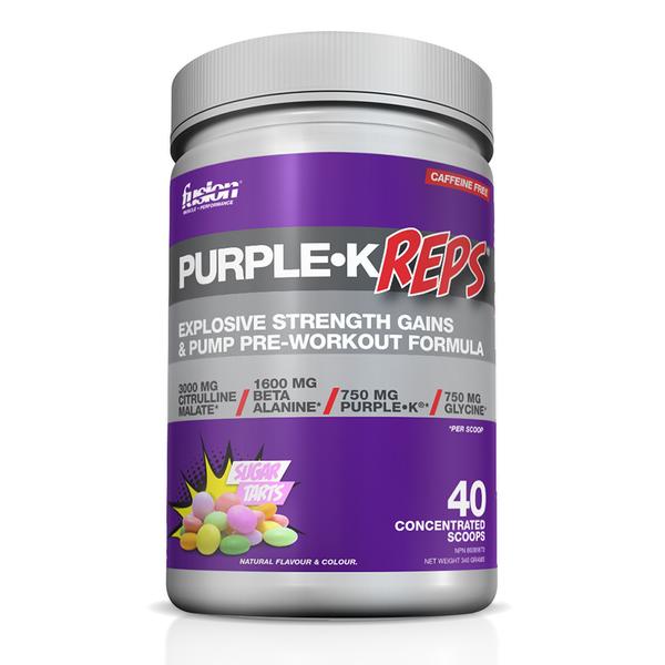 Fusion Bodybuilding Fusion Purple K Reps Sugar Tarts 40 servings