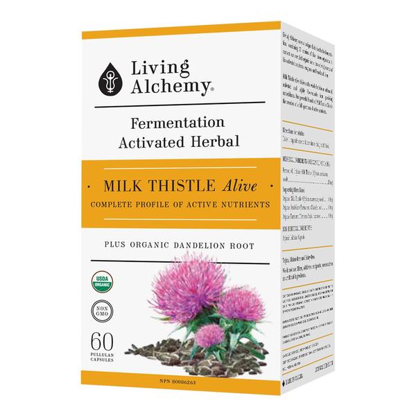 Living Alchemy Living Alchemy Milk Thistle Alive 60 caps