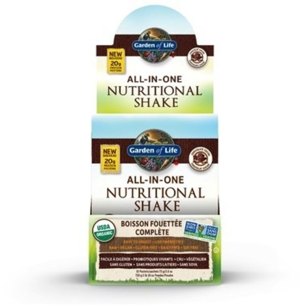 Garden of Life Garden of Life Raw Organic All in One Nutritional Shake Chocolate Cacao 73g