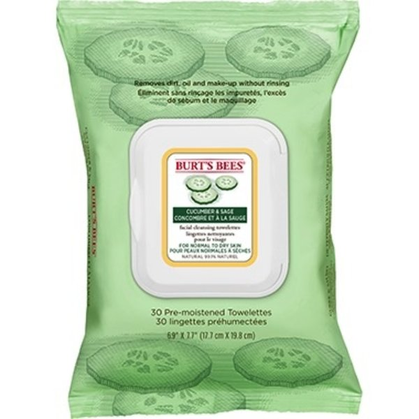 Burts Bees Burts Bees Cucumber Face Wipes 30's