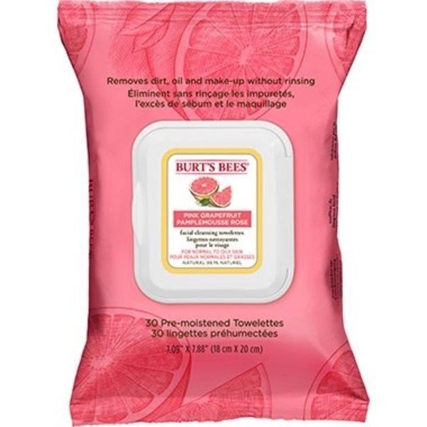 Burts Bees Burts Bees Pink Grapefruit Face Wipes 30's