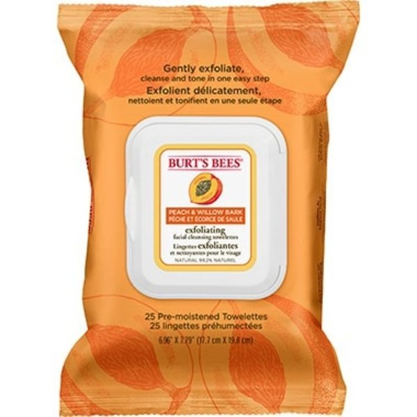 Burts Bees Burts Bees Peach and Willow Face Wipes 25's