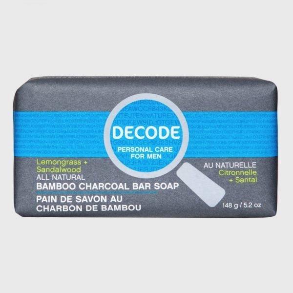 Decode Decode for Men Bamboo Charcoal Bar Soap Lemongrass Sandalwood