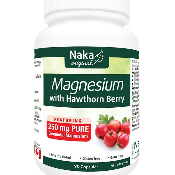 Naka Herbs Naka Magnesium with Hawthorn Berry 250mg 90 caps